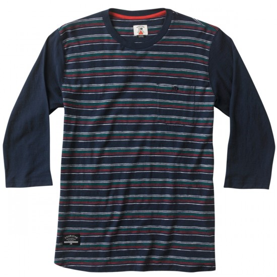 Fourstar Koston Baseball Slub Knit Shirt - Navy