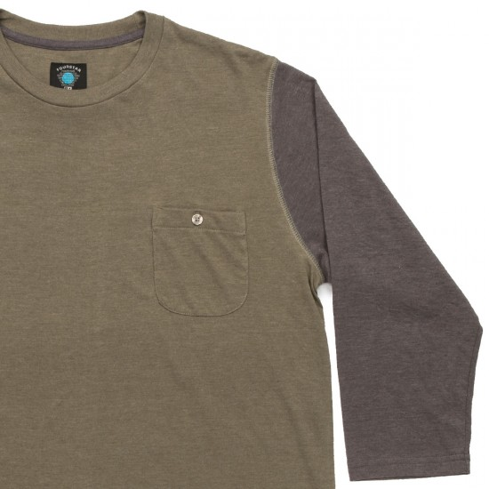 Fourstar Leavenworth 3/4 Sleeve Shirt - Olive Heather