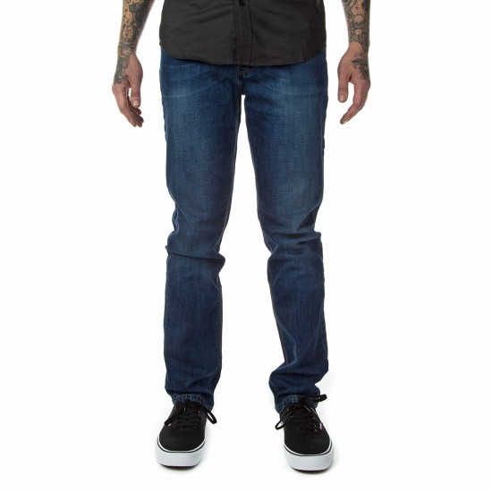 Fourstar Malto Denim Straight Slim Pants - Broken Indigo - 28 - 32