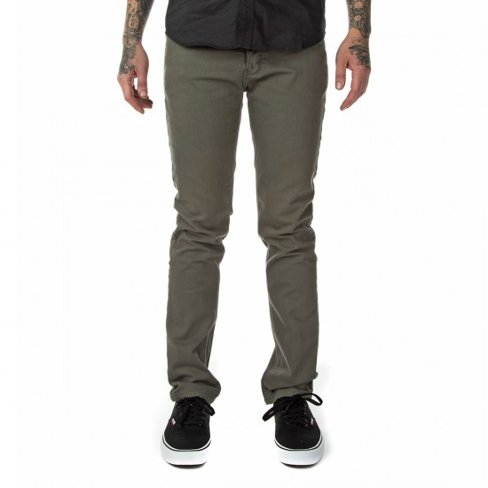 Fourstar Malto Denim Straight Slim Pants - Castle Grey - 28 - 32