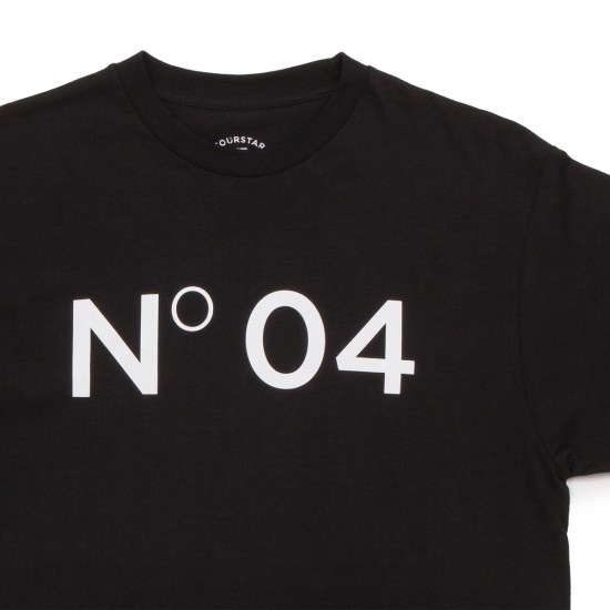 Fourstar New No. 04 Standard T-Shirt - Black