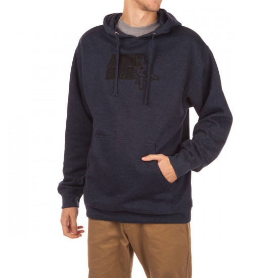 Fourstar Thumbs Up Pullover Hoodie - Navy