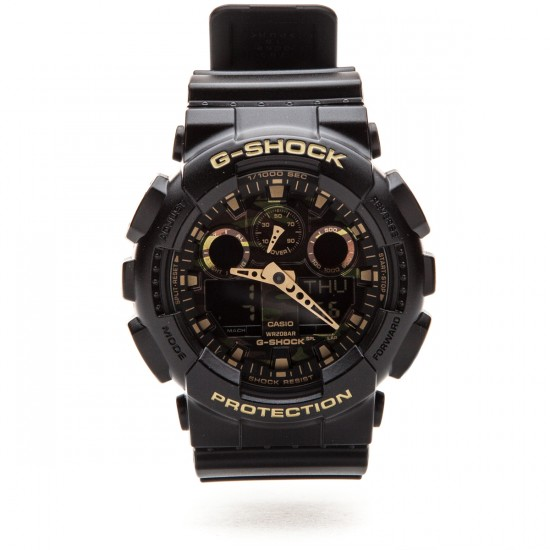 G-Shock GA-100 Watch - Camoflauge/Black