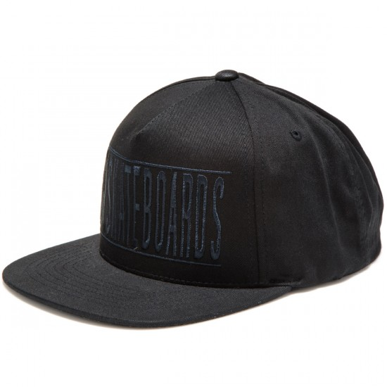 Girl Bars Snapback Hats - Black