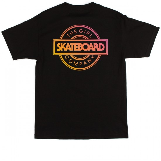 Girl Sunset Standard T-Shirt - Black