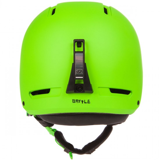 Giro Battle Snowboard Helmet 2015 - Matte Bright Green