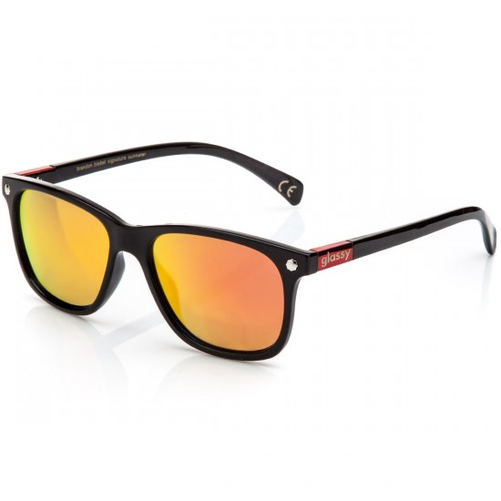 Glassy Biebel Sunglasses - Black/Red