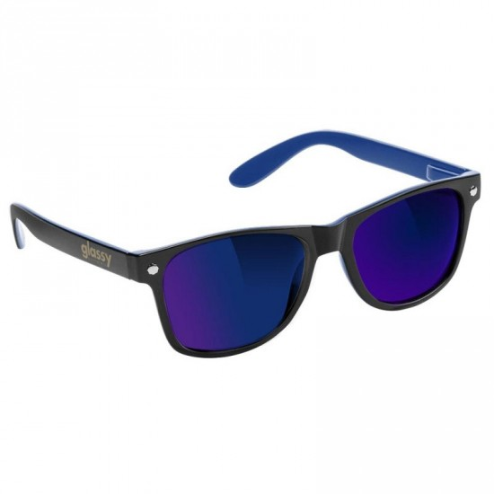 Glassy Leonard Sunglasses - Black/Blue/Blue Mirror