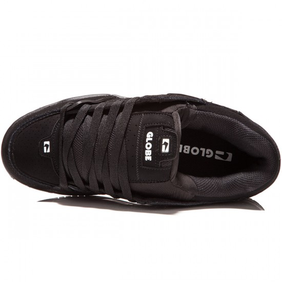 Globe Fusion Shoes - Black/Black/White - 8.0