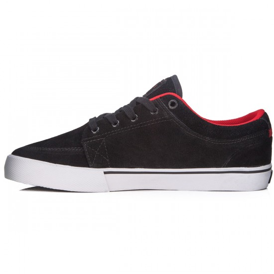 Globe GS Shoes - Black/Red Suede - 7.0