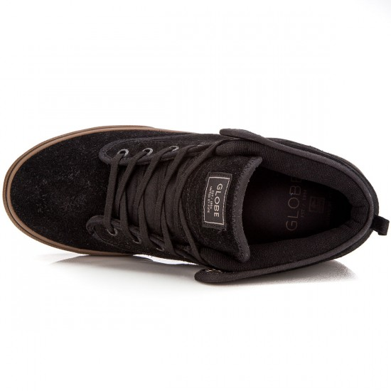 Globe Motley Mid Shoes - Black/Tobacco Gum - 8.0
