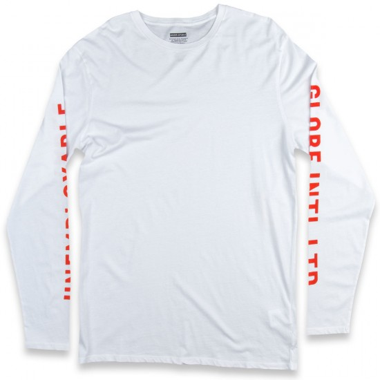 Globe Unemployable Long Sleeve T-Shirt - White
