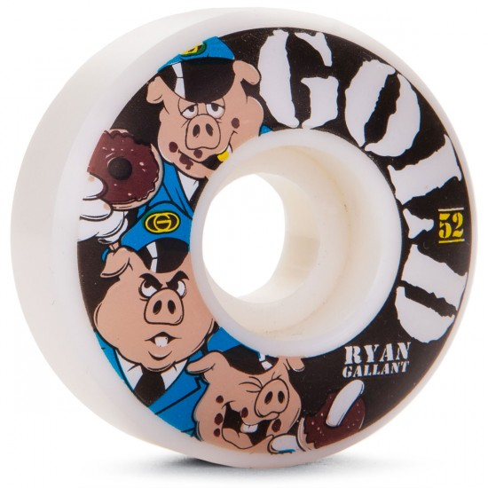 Gold 3 Pigs Gallant Skateboard Wheels - 52mm