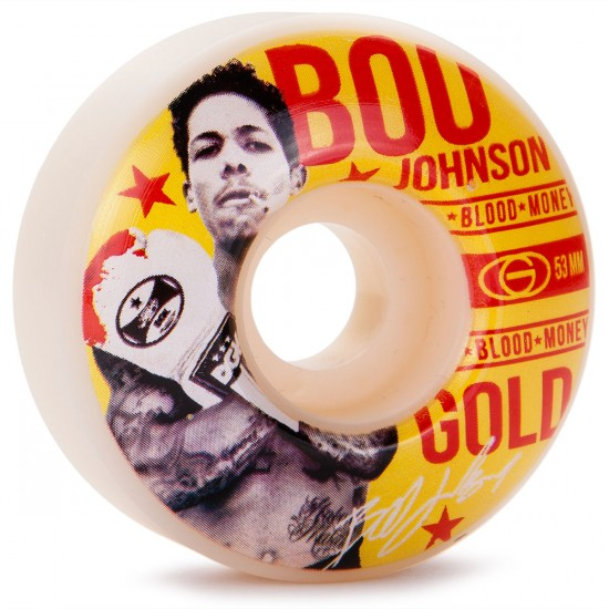 Gold Boo Johnson Fight Skateboard Wheels - 53mm