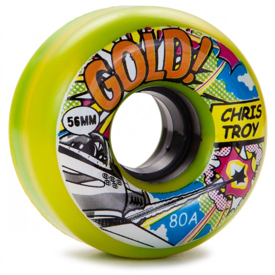 Gold Chris Troy Cruiser Skateboard Wheels - 56mm