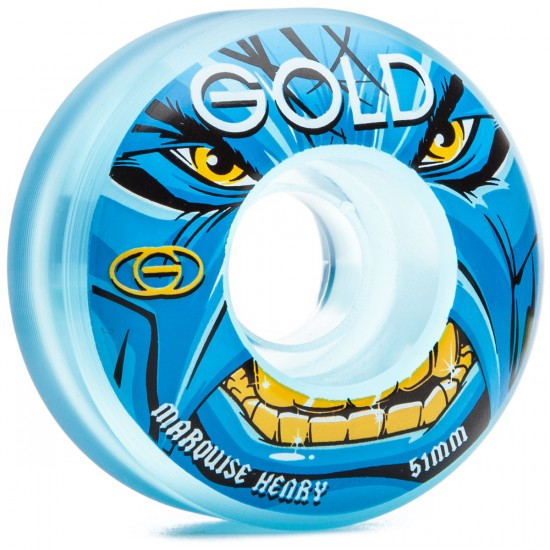 Gold Marquise Henry Furious Skateboard Wheels - 51mm