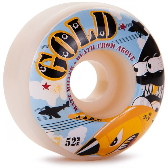 Gold Matt Miller Death From Above Skateboard Wheels - 52mm