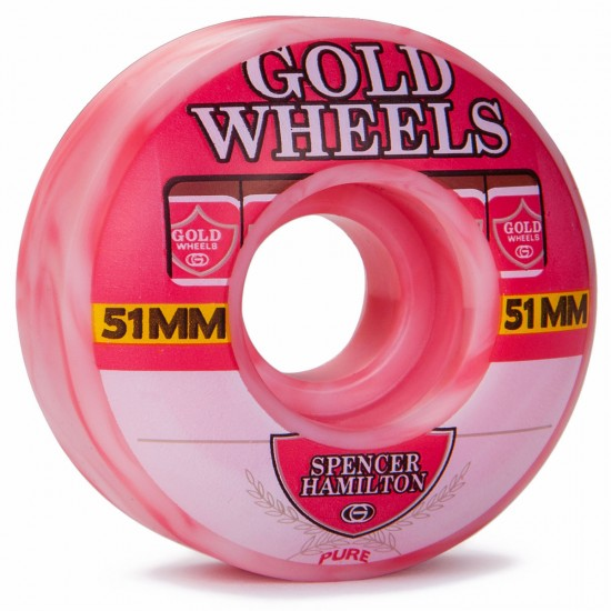 Gold Spencer Hamilton Strawberry Sweets Skateboard Wheels - 51mm