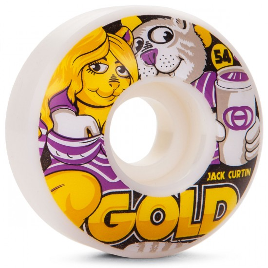 Gold Three Cups Curtin Skateboard Wheels - 54mm