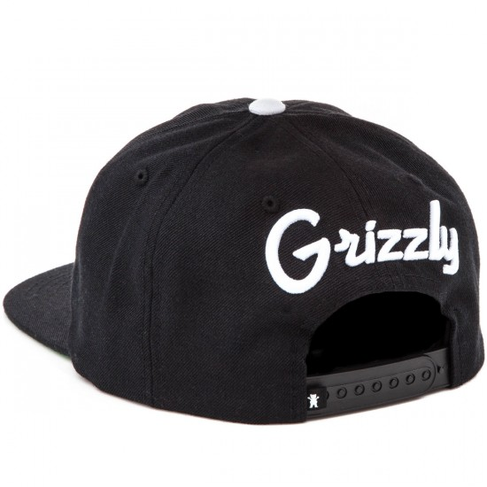 Grizzly Grip Back To Back Snapback Hat - Black