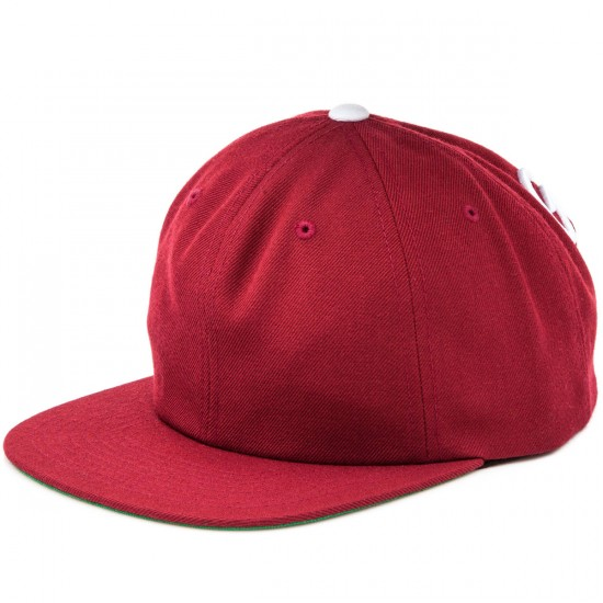 Grizzly Grip Back To Back Snapback Hat - Burgundy