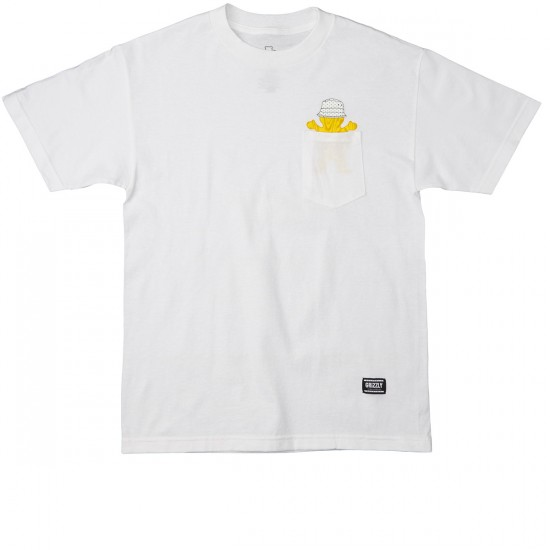 Grizzly Grip Boo Johnson Pocket T-Shirt - White