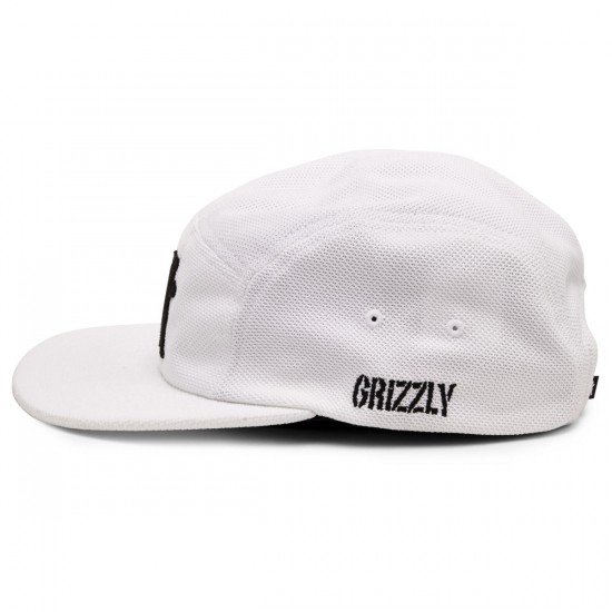 Grizzly Grip BRB Grizzly OG Bear Pique 5 Panel Hat - White
