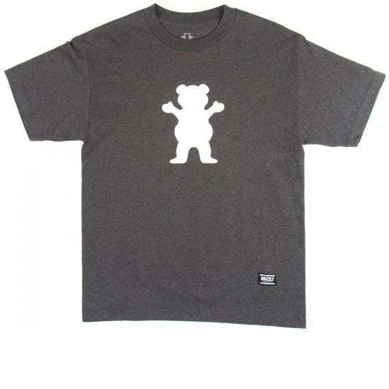Grizzly Grip OG Bear Logo T-Shirt - Charcoal Heather