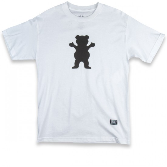 Grizzly Grip OG Bear Logo T-Shirt - White