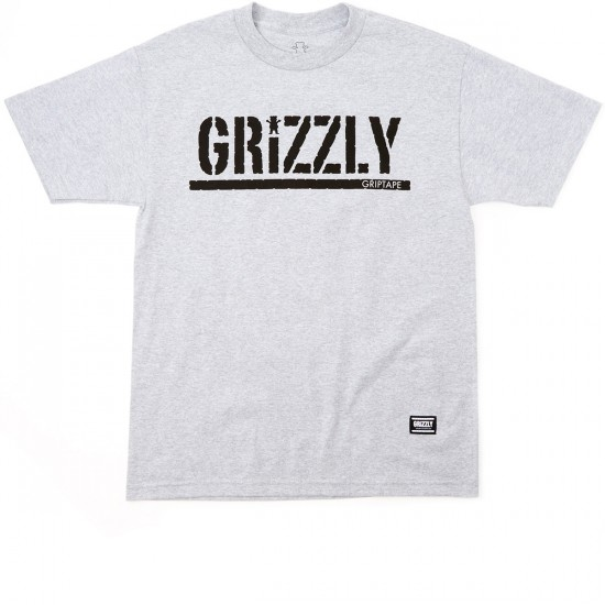 Grizzly Grip OG Stamp Logo T-Shirt - Heather Grey