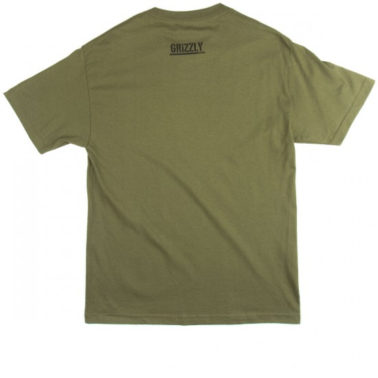 Grizzly Grip OG Stamp Logo T-Shirt - Military Green