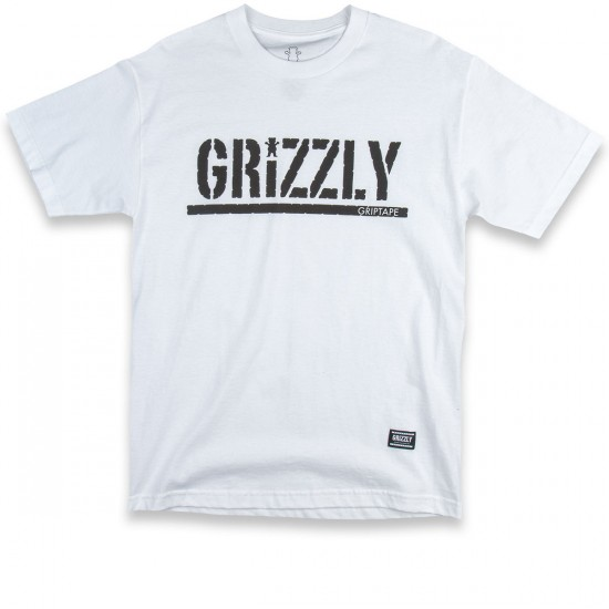 Grizzly Grip OG Stamp Logo T-Shirt - White