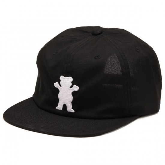 Grizzly Grip Recess Formless OG Bear 6 Panel Hat - Black
