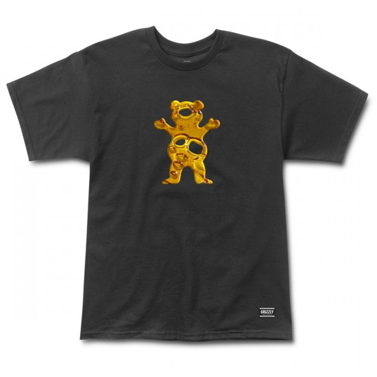 Grizzly Grip Shatter Bear T-Shirt - Black