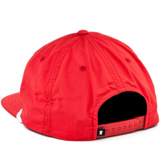 Grizzly Grip Silver River Snapback Hat - Red