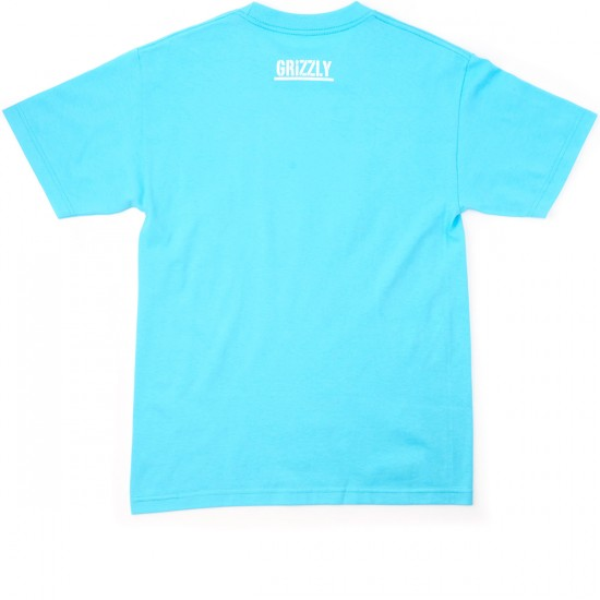 Grizzly Grip Summer Crop Stamp T-Shirt - Pacific Blue