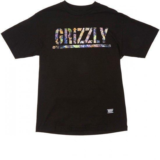 Grizzly Grip T-Puds Fruity Pebbles Stamp T-Shirt - Black