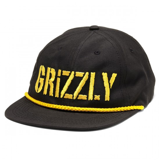 Grizzly Grip Wild Rivers Stamp Snapback Hat - Black