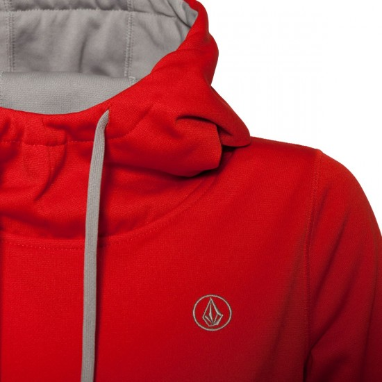 Volcom Survey Hydro Sweatshirt - Scarlet - Women's