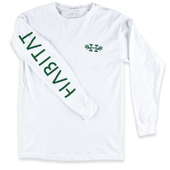 Habitat H Crest Long Sleeve T-Shirt - White