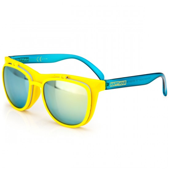 Happy Hour Frank Gerwer All In Sunglasses - Matte Yellow/Blue Frost
