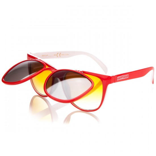 Happy Hour Red Cup Sunglasses - Gloss Red