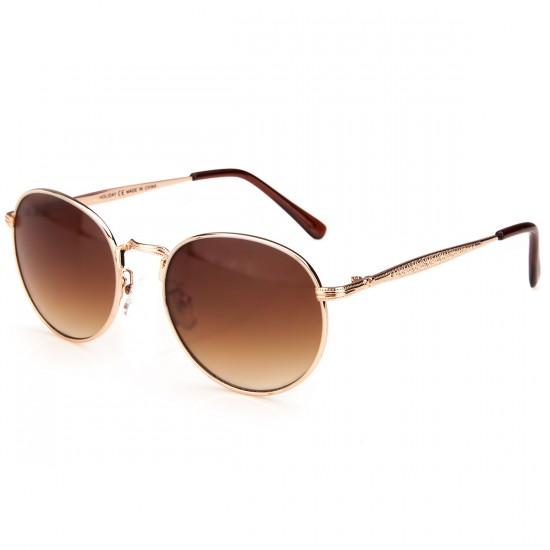 Happy Hour Riley Hawk Holidaze Sunglasses - Gold/Amber
