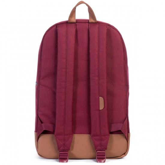 Herschel Heritage Backpack - Windsor Wine/Tan Synthetic Leather