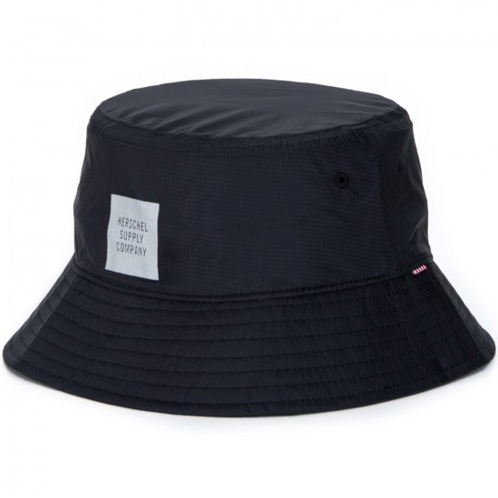 Herschel Lake Ripstop Bucket Hat - Black