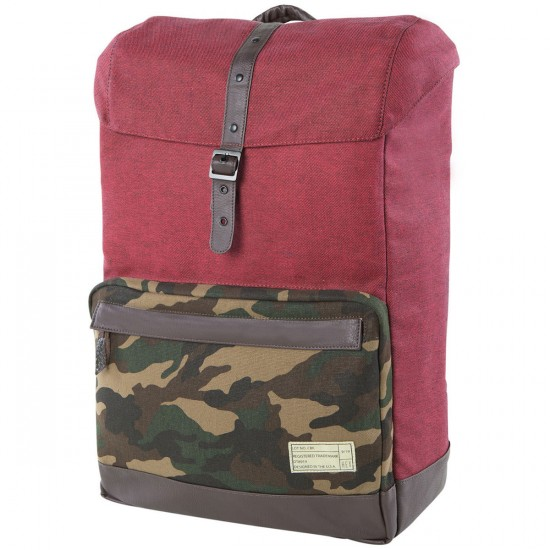 Hex Coast Backpack - Red/Camo
