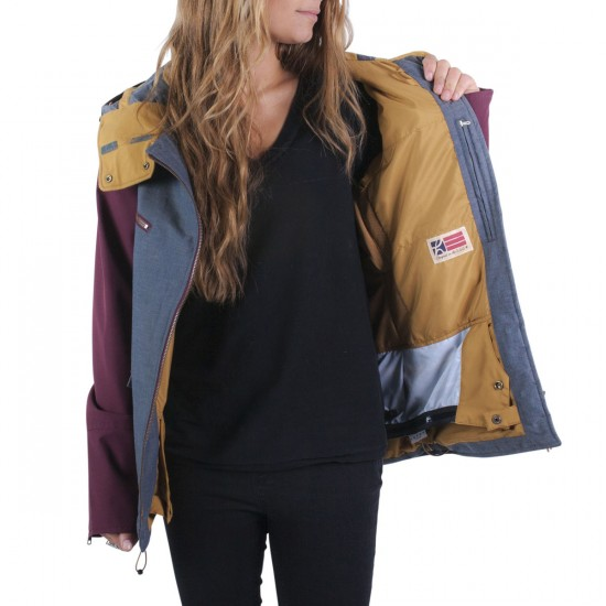 Holden Moto Womens Snowboard Jacket - Chambray/Port Royale