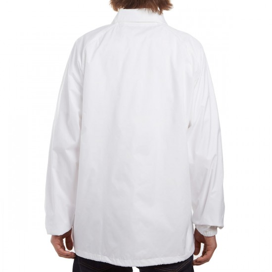 Hook-Ups Embroidered Unlucky Cat Jacket - White