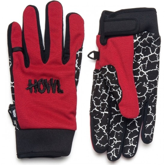 Howl Jeepster Snowboard Gloves - Red
