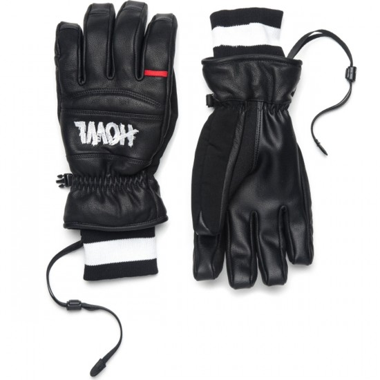 Howl Vintage Snowboard Gloves - Black